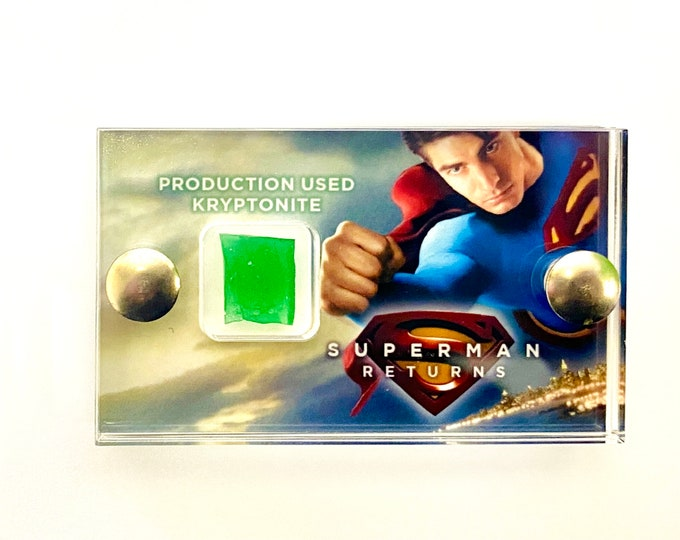 Mini Display - Superman Returns Production-Used Kryptonite