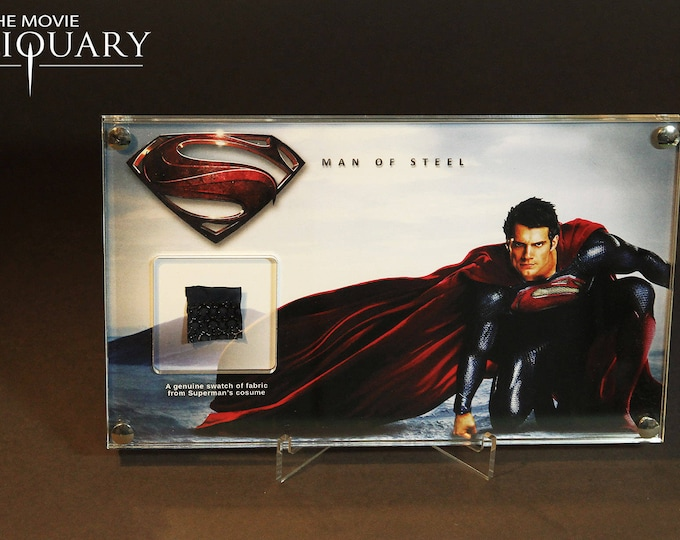 Man of Steel - Superman costume swatch display