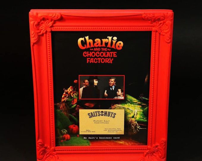 Charlie and the Chocolate Factory - Salt's Nuts Business Card Display
