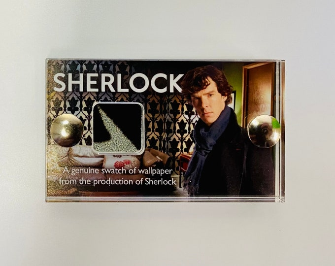 Mini Display Sherlock Wallpaper - Genuine Swatch of Wallpaper from 221B Baker Street
