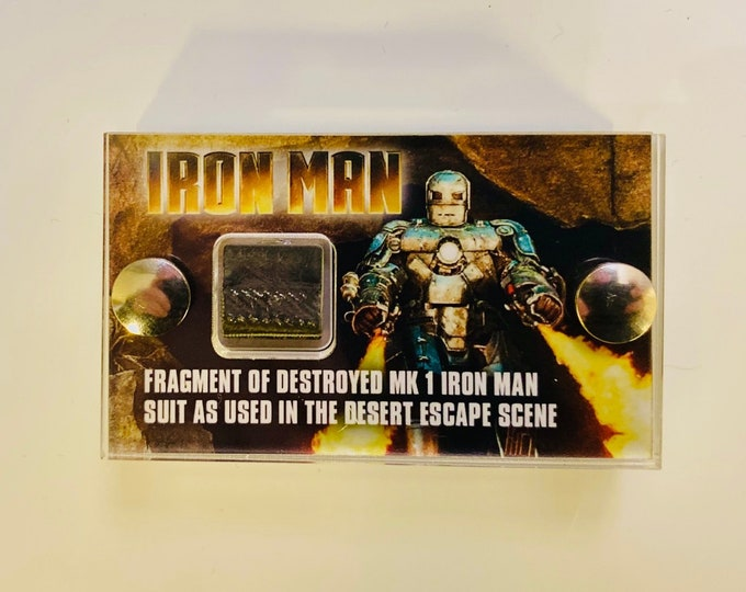 Iron Man Destroyed Mk1 Suit Fragment - Mini Display
