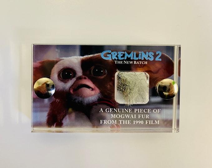 Mini Display - Grey Gremlins 2 Production Made Mogwai Fur