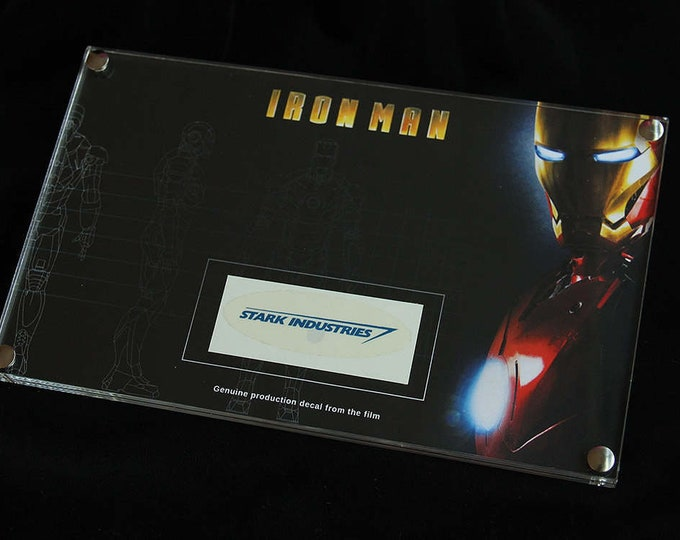 Iron Man - framed production decal