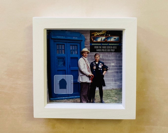 7x7 Shadow Box Doctor Who - Screen Used TYJ Tardis Paint Remnant BC