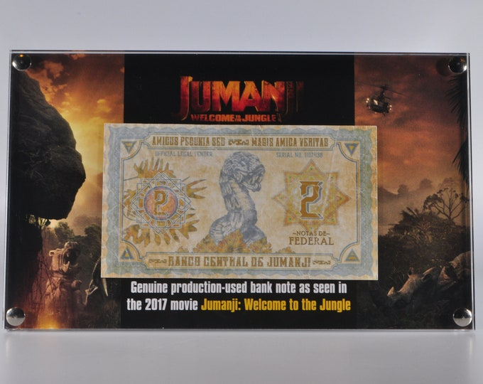 Jumanji Currency Production Used Prop Money Note - 2 Notas De Federal