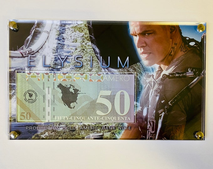 Production Used Elysium Bank Note
