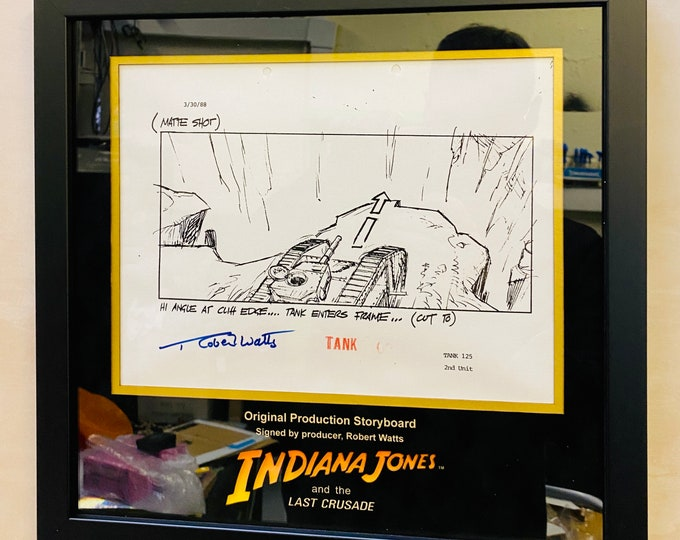 Indiana Jones - The Last Crusade Signed Original Production Storyboard from PropStore