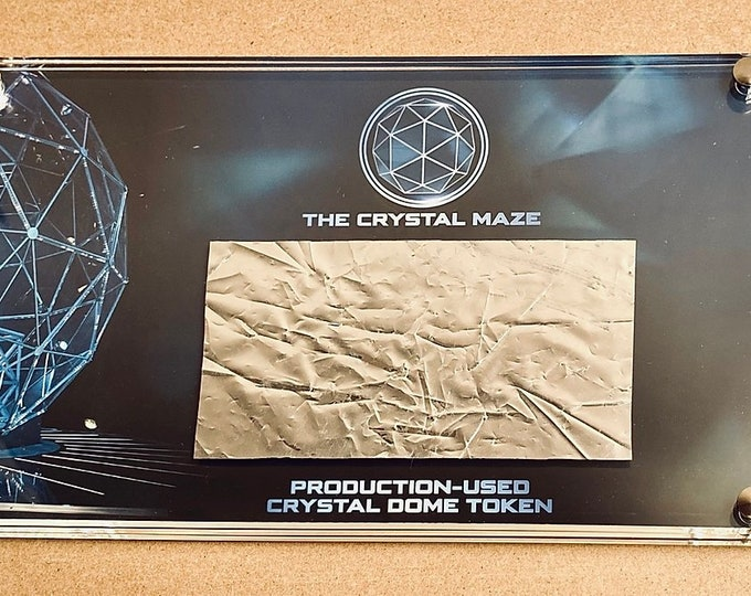 Production Used - Crystal Maze - Silver Dome Token / Foil