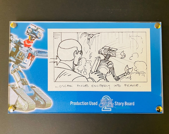 Short Circuit 2 - Production Used Story Board