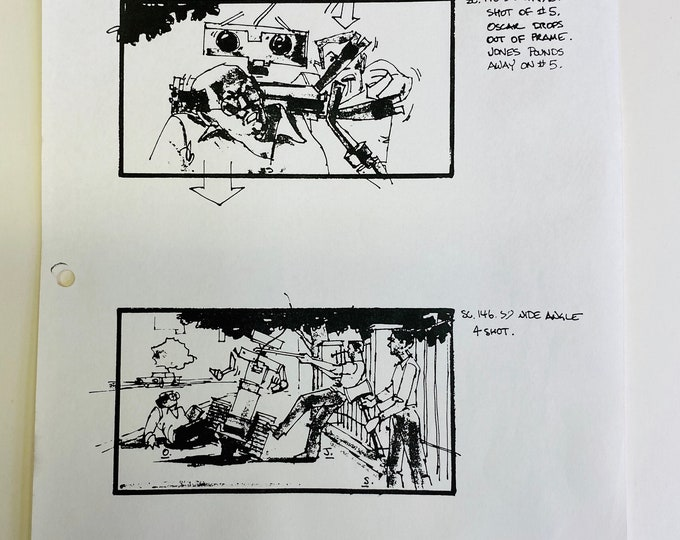 No 198 - Short Circuit 2 - Production Story Board Print