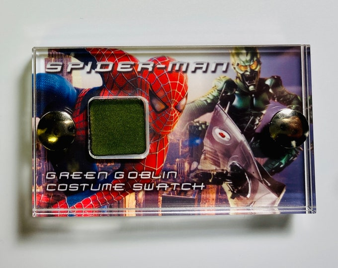 Mini Display - Spider-Man Production Green Goblin Costume Swatch