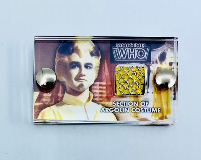 Mini Display Doctor Who - Section of Screen Used Argolin Costume
