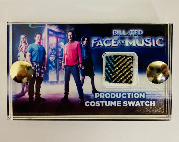 Mini Display - Bill and Ted Face The Music - Production Costume Swatch