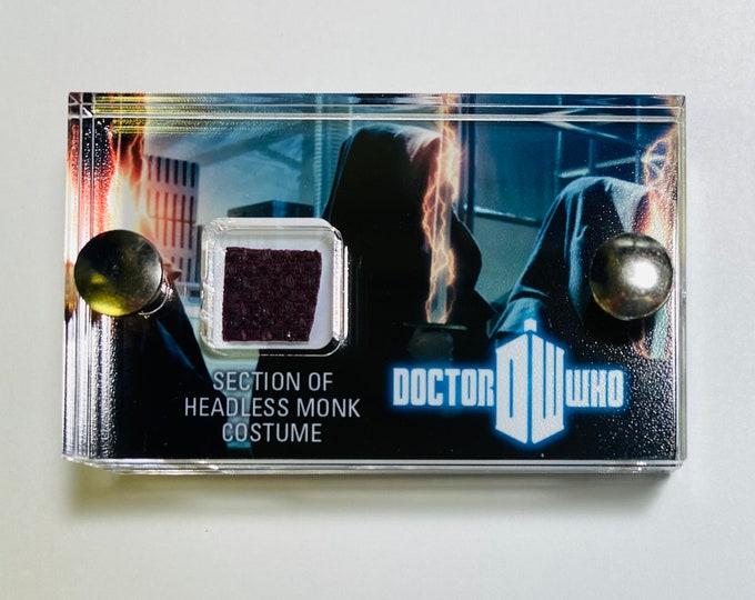 Mini Doctor Who Display - Production Section of Headless Monk Costume