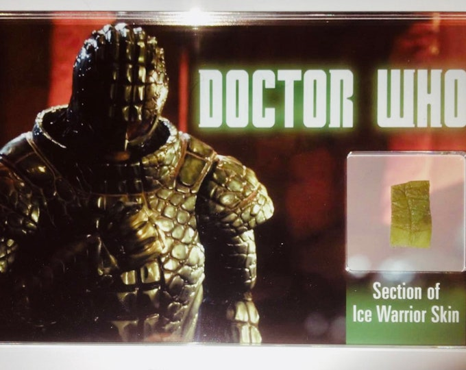 Large Display Doctor Who -  Section of Ice Warrior Skin