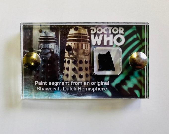 Mini Display - V2 Doctor Who Shawcraft Dalek Hemisphere Black Paint Fragment