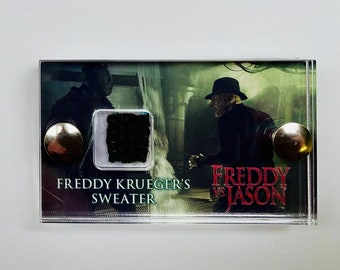 Green Mini Display Freddy Vs Jason - Freddie Krueger Sweater Swatch Display