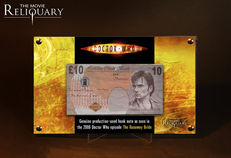 Dr Doctor Who  Production Made 10 Pound Bank Note / Money image 0