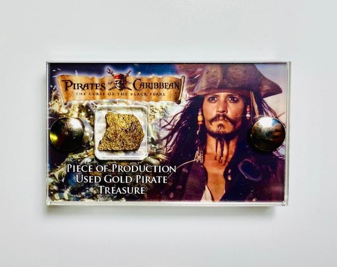Mini Display - Pirates of the Caribbean Production Used Gold Pirates Treasure