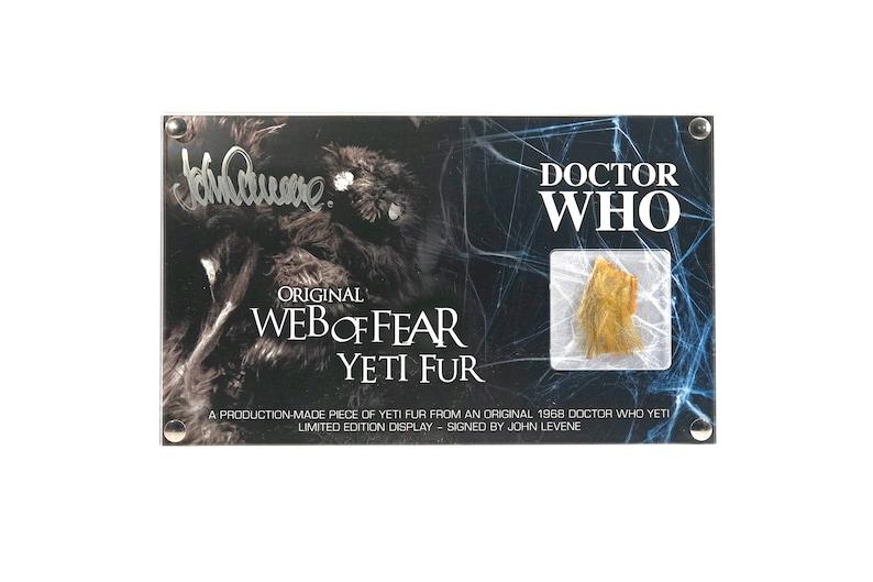 Large Display Web of Fear Yeti Fur  Signed by John Levene image 0
