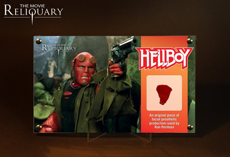 Hellboy  Ron Perlman Facial Prosthetic Piece  Red Edition image 0