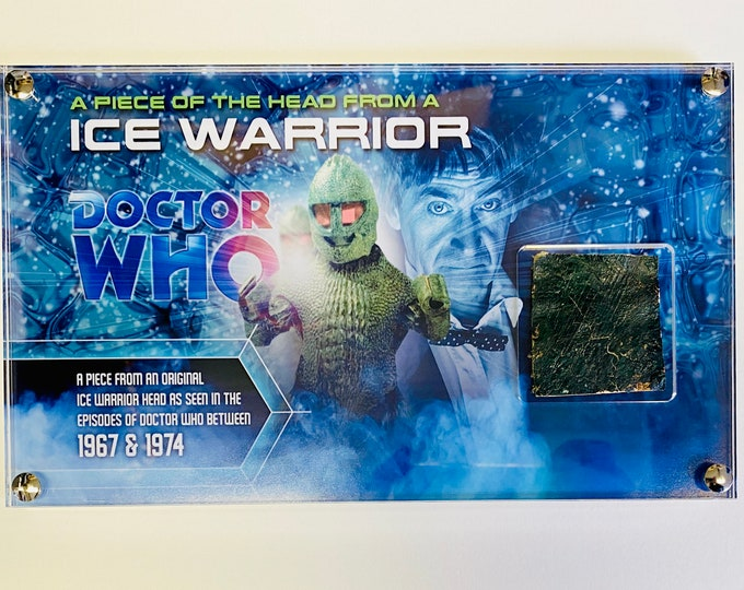 Doctor Who - Screen Used Ice Warrior Scale from Head Movie Prop Costume
