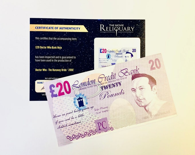 Loose Doctor Who - Production Made 20 Pound Bank Note / Money from Runaway Bride