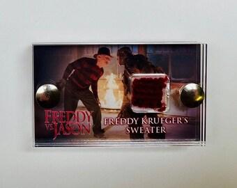 Red Mini Display Freddy Vs Jason - Freddie Krueger Sweater Swatch Display
