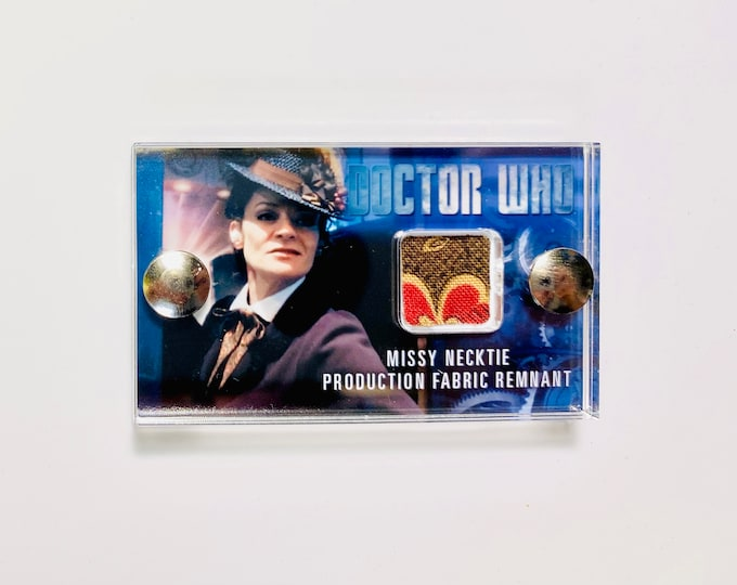 Mini Doctor Who Display - Production Missy Neck Tie Remnant