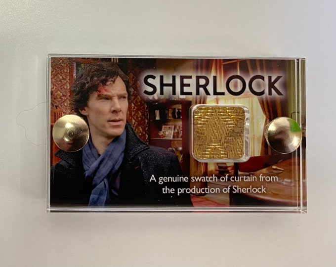 Mini Display Sherlock - Genuine Swatch of Curtain from 221B Baker Street