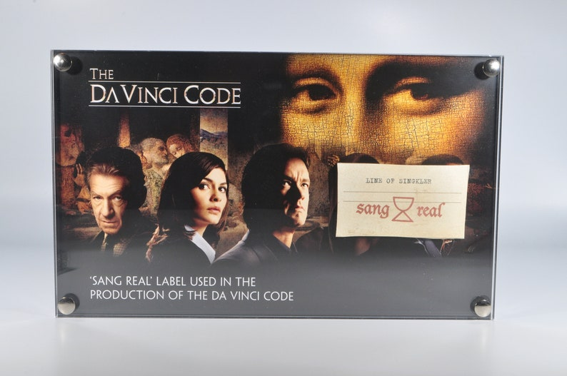 The Da Vinci Code 'Sang Real Label' Production Used image 0