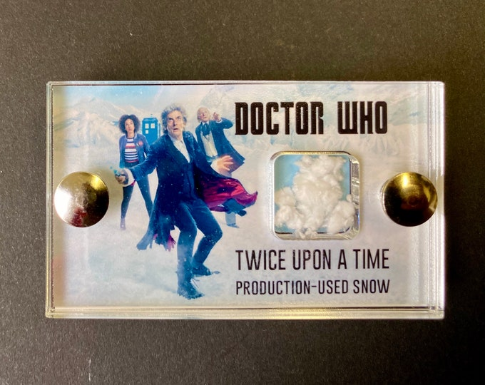 Mini Display - Doctor Who Twice Upon A Time Production Used Snow