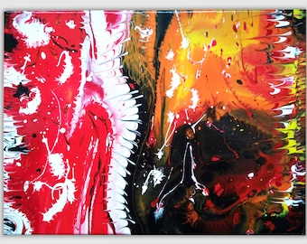 All good things come to the end - abstract painting, acrylic on canvas