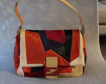 81a5990cfccd Fendi Pony Hair Patchwork Mama Forever Bag