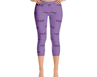 1548974faa334a Breast Cancer Capri Leggings Breast Cancer Awareness Yoga Pants Breast  Cancer Survivor Pink Ribbon Breast Cancer Gifts Cancer Clothing Capri
