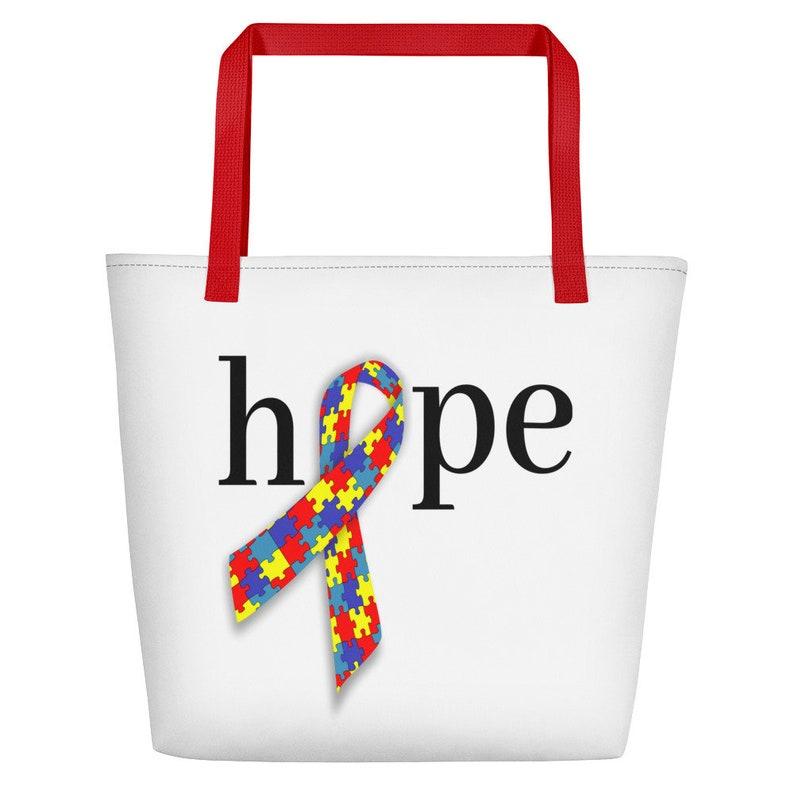 Autism Beach Bag Autism Bag Autism Awareness Autism Acceptance Autism Mom Gift Special Needs Mom Tote Bag Therapist Bag Bag For Teacher