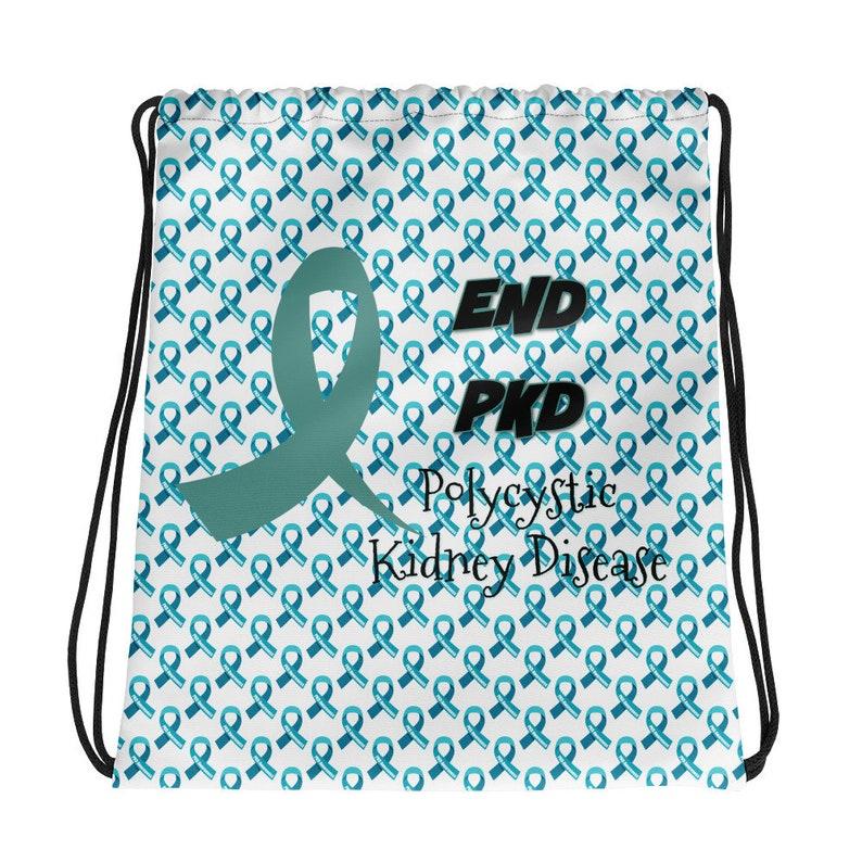 PKD Awareness Drawstring Bag PKD Bag PKD Apparel Polycystic Kidney Disease Awareness Pkd Tote Bag Pkd School Bag Kidney Disease Gifts