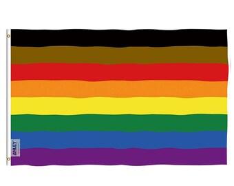 Philadelphia Rainbow Flag: 3x5 feet