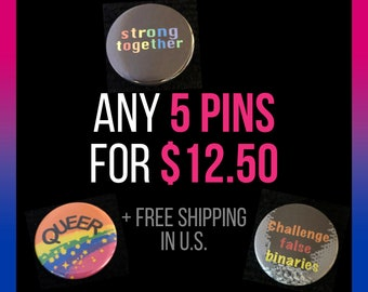 Choose any 5 pins for 12.50 dollars!