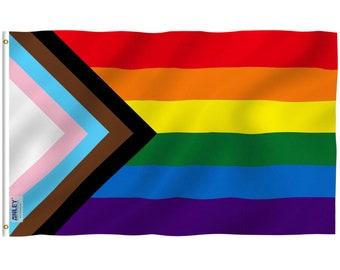 Progress Pride Flag 3x5 feet