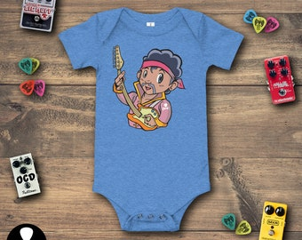 7bb43e52f Jimi Hendrix Jr Stratocaster Edition Baby Bodysuit