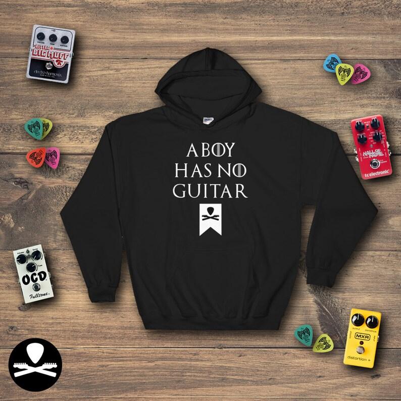 A Boy Has No Guitar Hoodie image 0