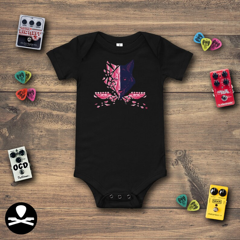 Shattered Wolf  Telecaster Edition Baby Bodysuit image 0