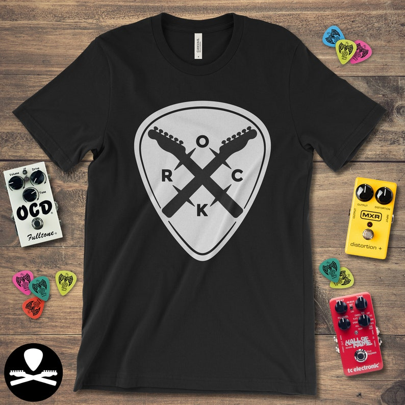 Rock Pick for Those About to Rock  Telecaster Edition T-Shirt image 0