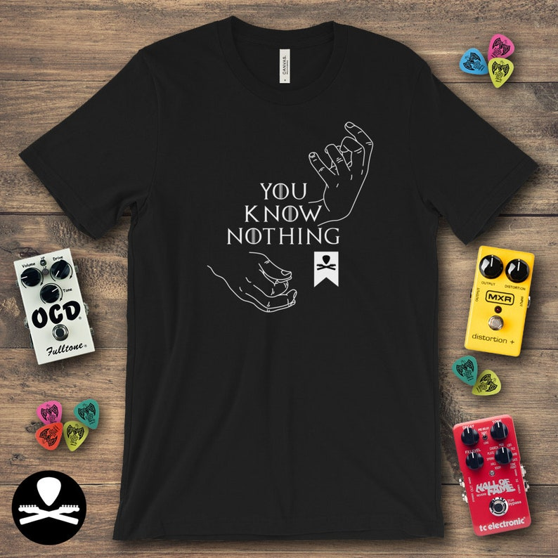 You Know Nothing Guitar T-Shirt image 0