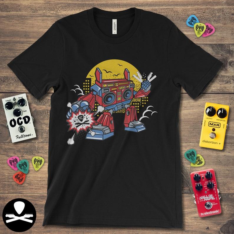 Boombox Robot T-Shirt image 0
