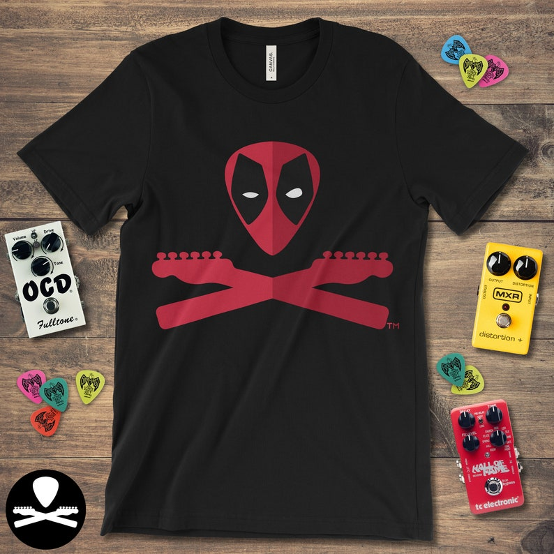 Deadpool Crossbones  aka The Regenerating Degenerate T-Shirt image 0