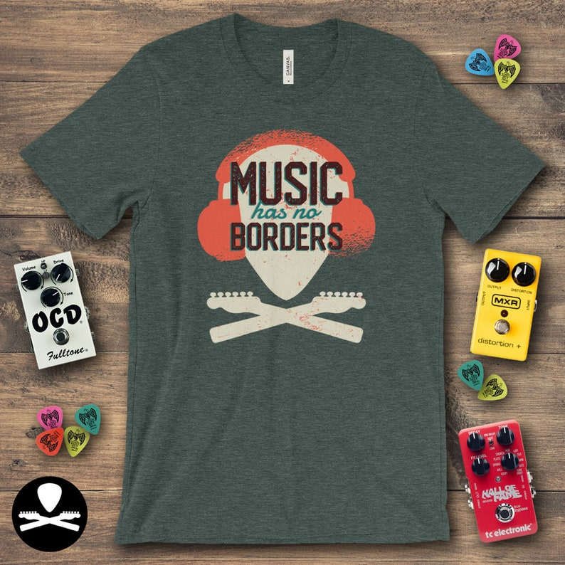 Music Has No Borders  Telecaster Edition T-Shirt image 0