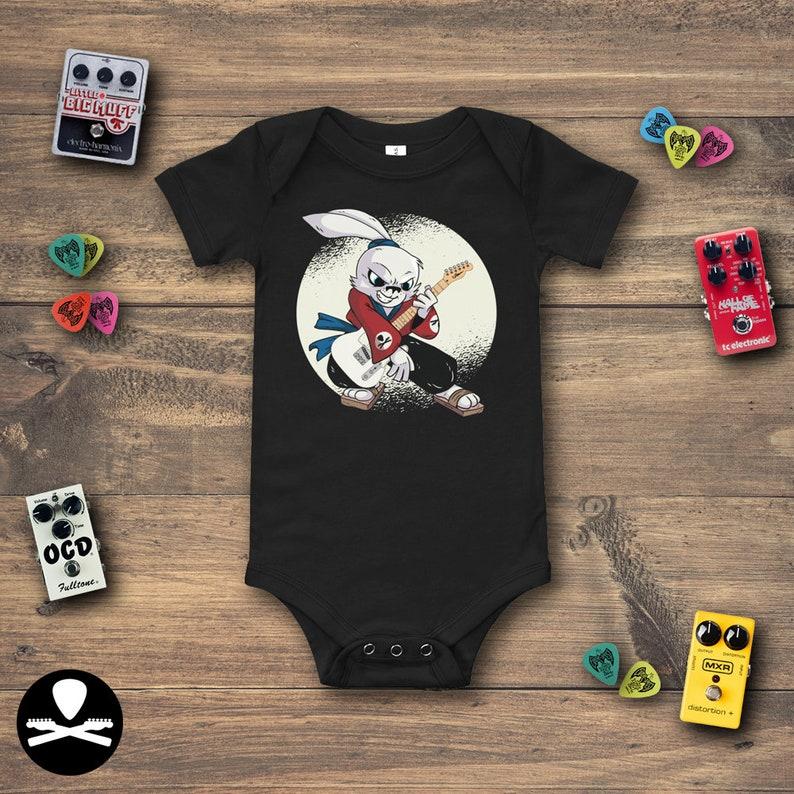 Hayate the Samurai Rabbit Guitarist holding a Telecaster Baby image 0