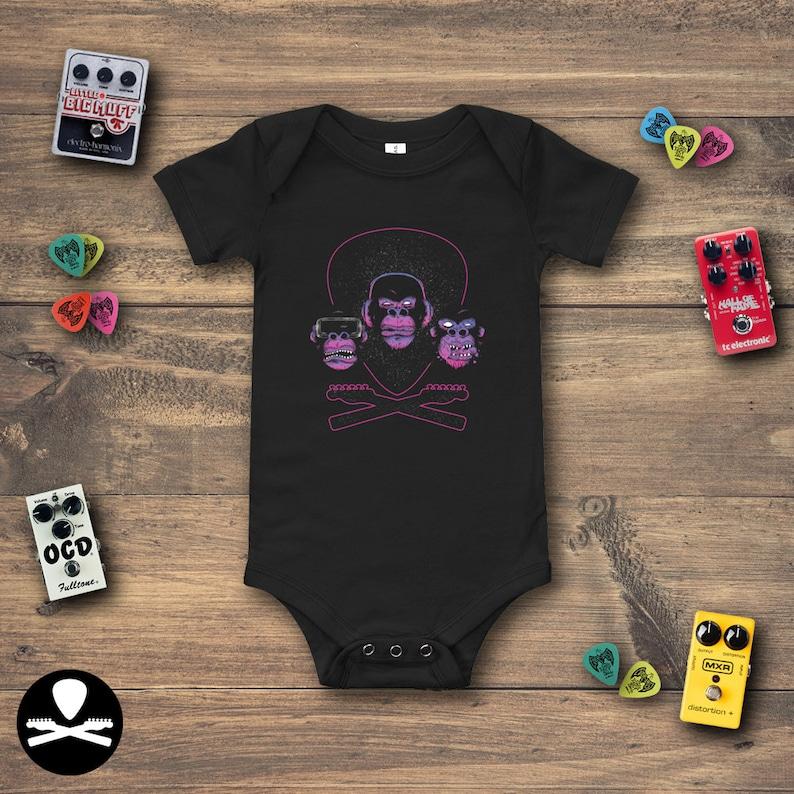 Dimbled Primates Crossbones Baby Bodysuit image 0